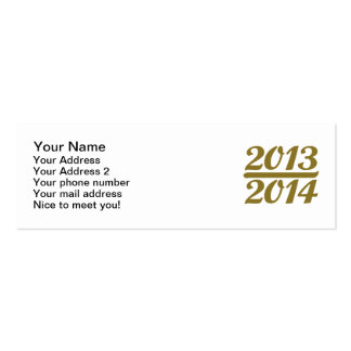 New Year 2013 2014 Business Card Template