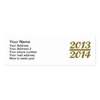 New Year 2013 2014 Mini Business Card