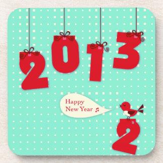 "New Year 2013 ""New Year's"" Goodbye 2012 Unique Joy Drink Coaster"