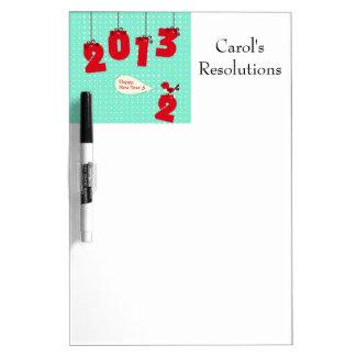 "New Year 2013 ""New Year's"" Goodbye 2012 Unique Joy Dry-Erase Board"
