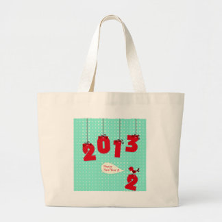 """New Year 2013 """"New Year's"""" Goodbye 2012 Unique Joy Large Tote Bag"""