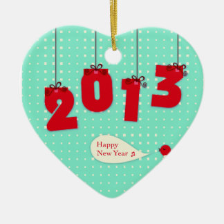 "New Year 2013 ""New Year's"" Goodbye 2012 Unique Joy Christmas Tree Ornament"