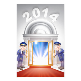 New Year 2014 Red Carpet Customised Stationery