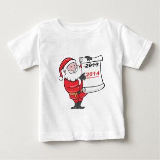 New Year 2014 Santa Claus Scroll Sign Shirt