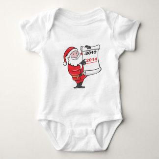 New Year 2014 Santa Claus Scroll Sign Tshirts
