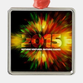 New Year 2015 Metal Ornament