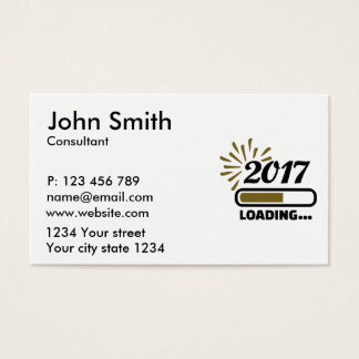 New year 2017 loading business card