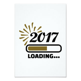 New year 2017 loading card