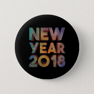 New Year 2018 Button Pins Souvenir Gift