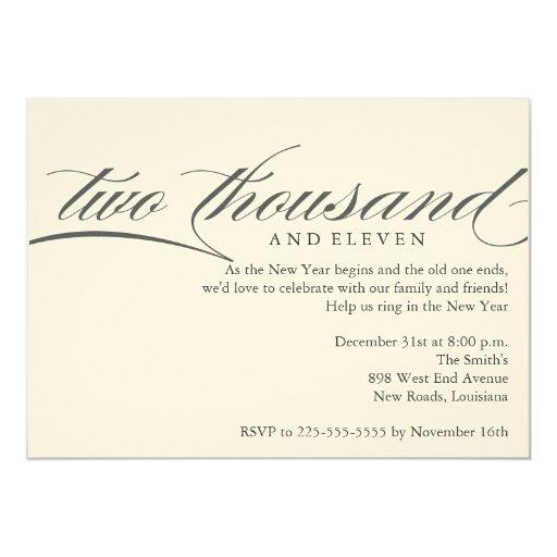New Year 5x7 Paper Invitation Card