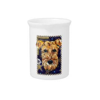NEW YEAR AIREDALE DRINK PITCHERS