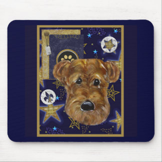 NEW YEAR AIREDALE MOUSE PAD