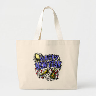 New Year's Party Time Jumbo Tote Bag