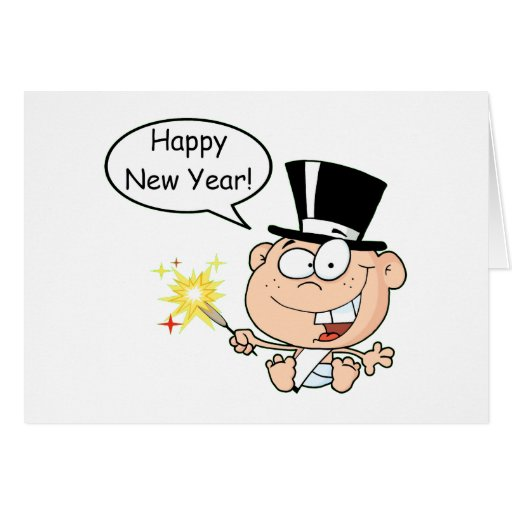 New Year Baby Card