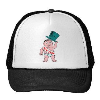 New Year Baby Trucker Hats