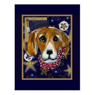 NEW YEAR BEAGLE POST CARDS