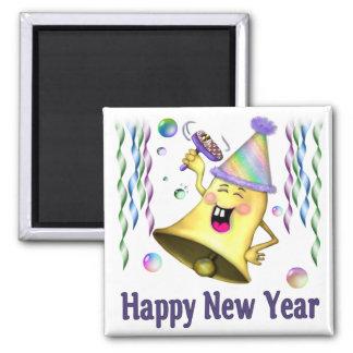 New Year Bell Fridge Magnet