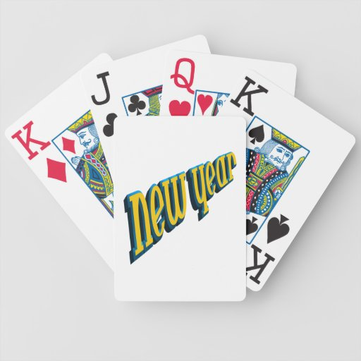New Year Bicycle Card Deck