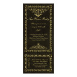 New Year Black and Gold Vintage Ticket Invitations
