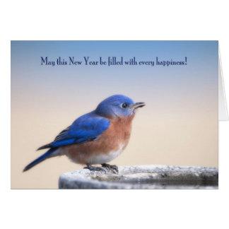 New Year Bluebird Card
