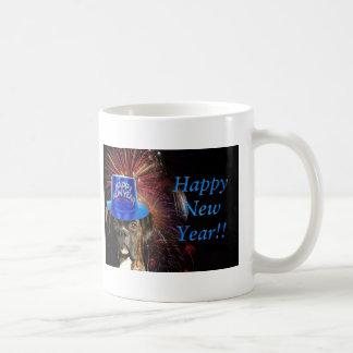 New Year Boxer dog mug