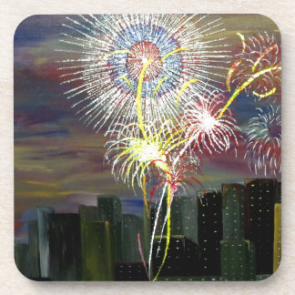 New Year Celebration Drink Coaster