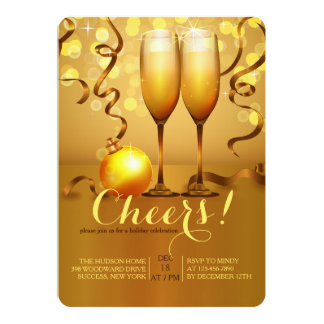 New Year Champagne Toast Invitation