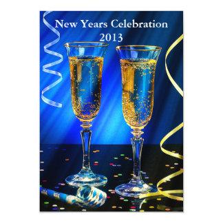 "New Year Champagne Toast 5"" X 7"" Invitation Card"