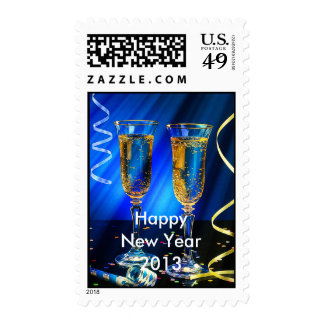 New Year Champagne Toast Postage Stamps