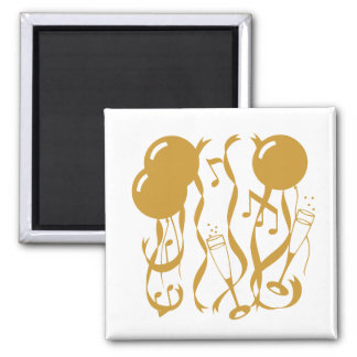 New Year Cheer 2 Inch Square Magnet