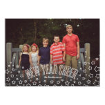 New Year Cheer Stars and Bubbly Holiday Photo Card