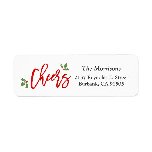New Year Cheers Modern Typography Happy Holiday Label