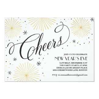 New Year Cheers New Years Party Invitation