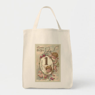 New Year Cherubs Tote Bag