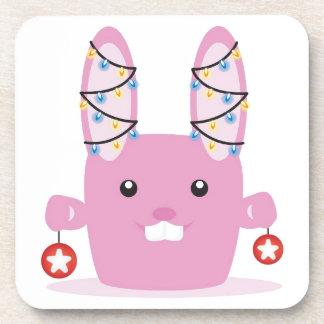 New year / Christmas bunny Drink Coaster