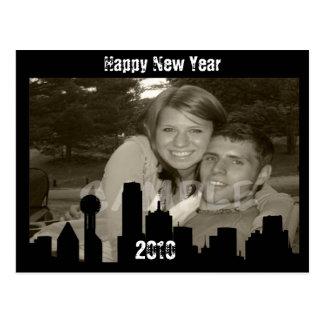 New Year CITY Celebration Postcard
