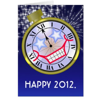 New Year Clock Card