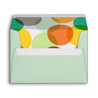 New Year Colorful Confetti Dots Holiday Envelope