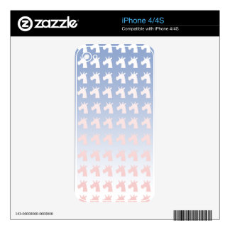 New Year, Colors, Unicorns Decal For iPhone 4