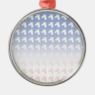 New Year, Colors, Unicorns Metal Ornament