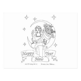 New Year Cornucopia Postcard