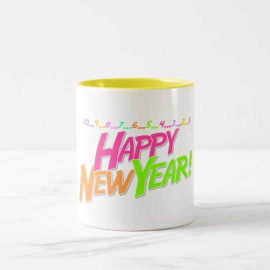 New Year Countdown Two-Tone Coffee Mug