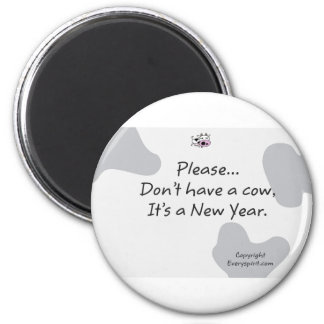 New year Cow Items Magnets