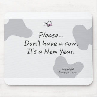 New year Cow Items Mouse Pad
