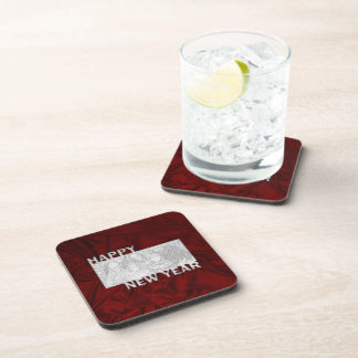 New Year Cut Out Photo Frame Drink Coaster