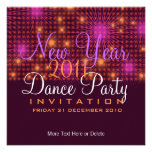 New Year Dance Party Stars & Fireworks Invitation