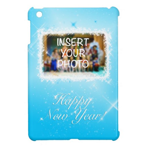 New Year Design! Stars in the Blue Sky. Add Photo. Case For The iPad Mini