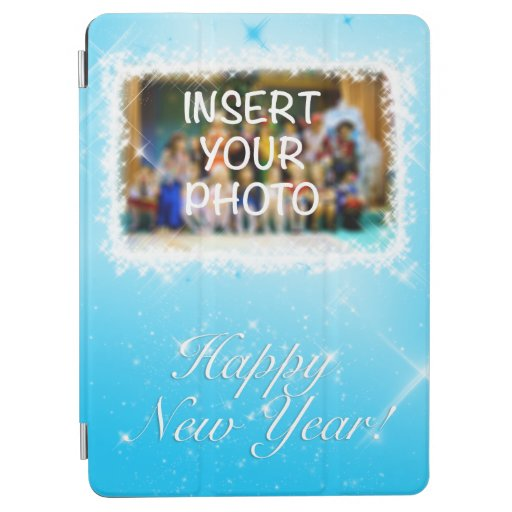 New Year Design! Stars in the Blue Sky. Add Photo. iPad Air Cover