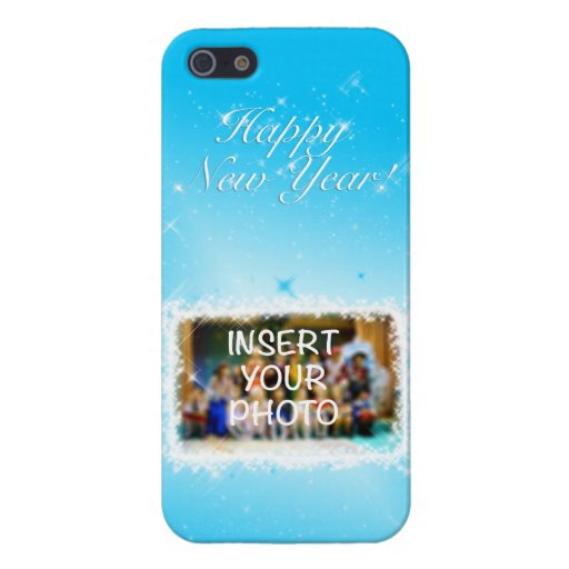 New Year Design! Stars in the Blue Sky. Add Photo. Case For iPhone SE/5/5s