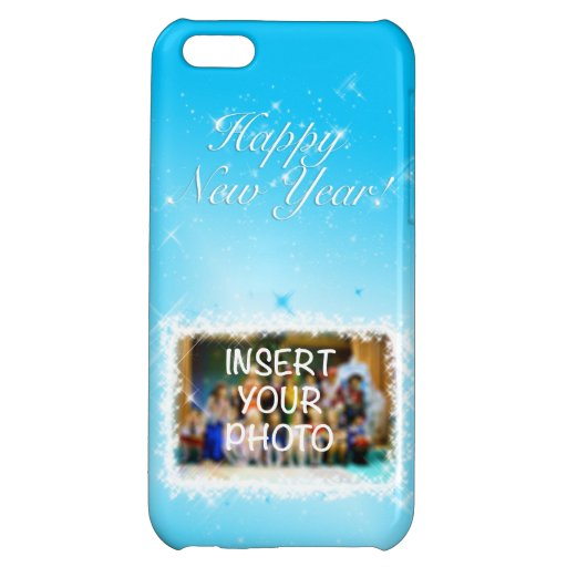 New Year Design! Stars in the Blue Sky. Add Photo. Case For iPhone 5C
